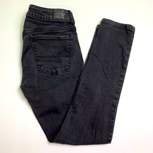 AE SS black jegging size 4